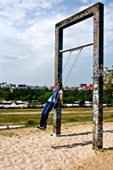 berlin wall swings
