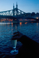champagne on the Danube