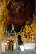 entrance to Gellert Hill Cave once home of St Ivan