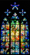 Mucha stained glass in St Vitus Cathedral