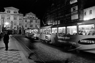 apparitions move in the Prague night
