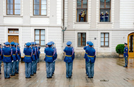 changing the guards at prague castle