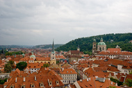 view from Prague Castle gardens