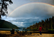 rainbow on murtle lake